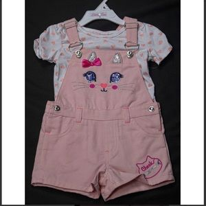 Little Lass Toddler Girl Overalls With Shirt